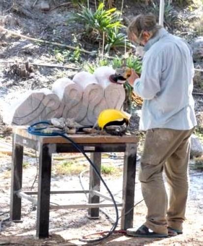 Sculptors at Crystal Lake Day 7, 17 April 2015