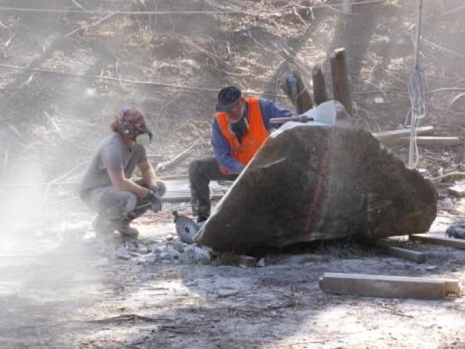 Sculptors at Crystal Lake Day 1, 11 April 2015