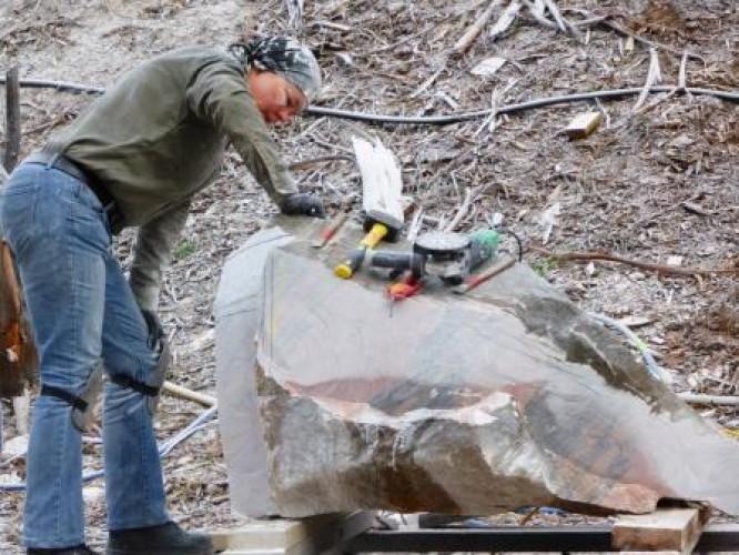 Sculptors at Crystal Lake Day 3, 13 April 2015